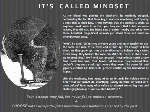 It's called mindset