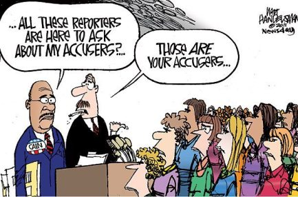 Political cartoon on Cain