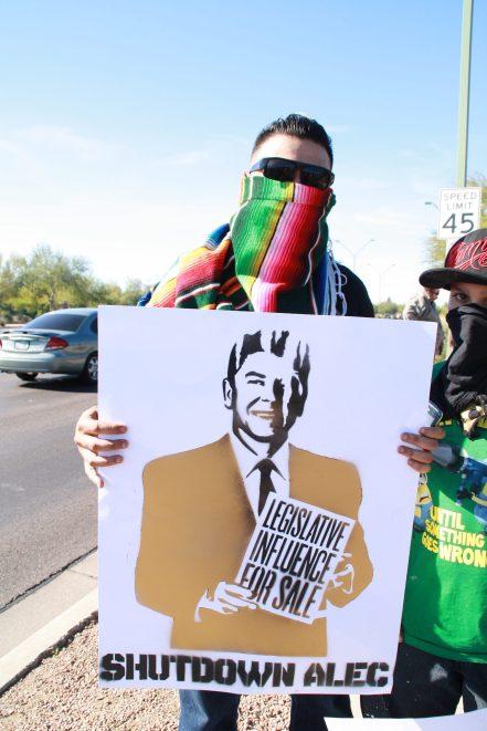 Protest against ALEC in Scottsdale AZ on Nov 30 2011 photo 16