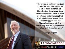 Quote from Joseph Stiglitz