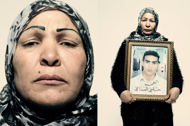 """Sayda al-Manahe's son Hilme was shot by a sniper during a protest in Tunis on Jan. 13. He was buried the day Ben Ali fled the country. """"My son is now a symbol, a symbol of Tunis. He gave his life so we can have freedom."""""""