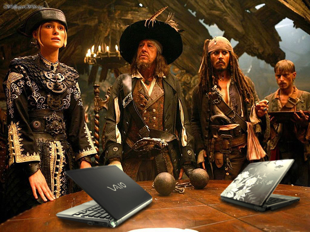 SOPA Stop Online Piracy Act image of Pirates of the Caribbean with laptops