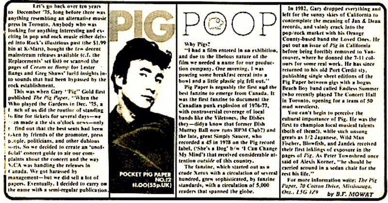 Special clipping from Nerve Magazine For Pig Paper 12