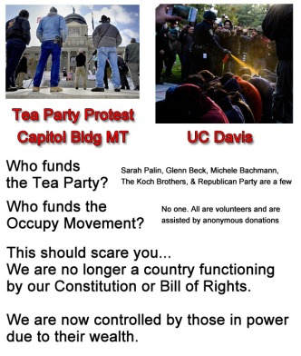 Tea Party protest vs an Occupy protest
