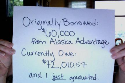 The reality of a student loan debt 3