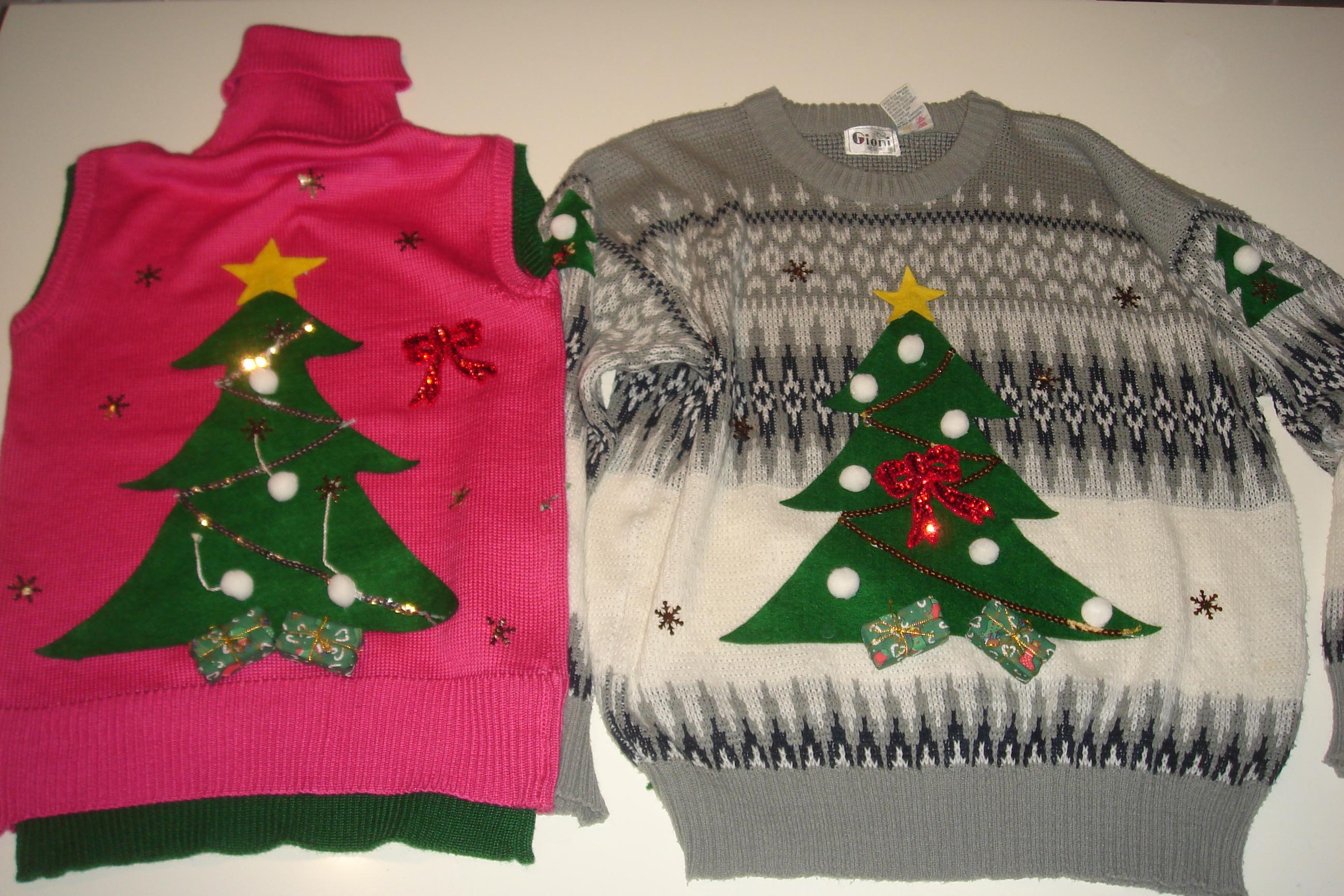 Ugly Christmas Sweater 02 Christmas Trees