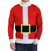 Santa suit with fake belt