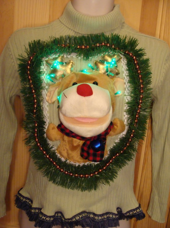 Stuffed Rudolf on front
