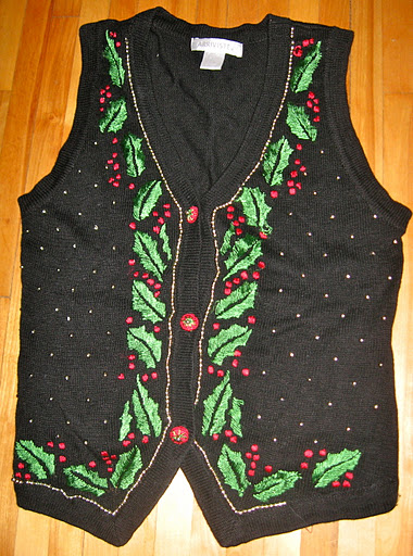 Vest with mistletoe