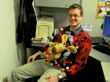 Stuffed Reindeer on front