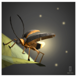 3D Origami Paper firefly