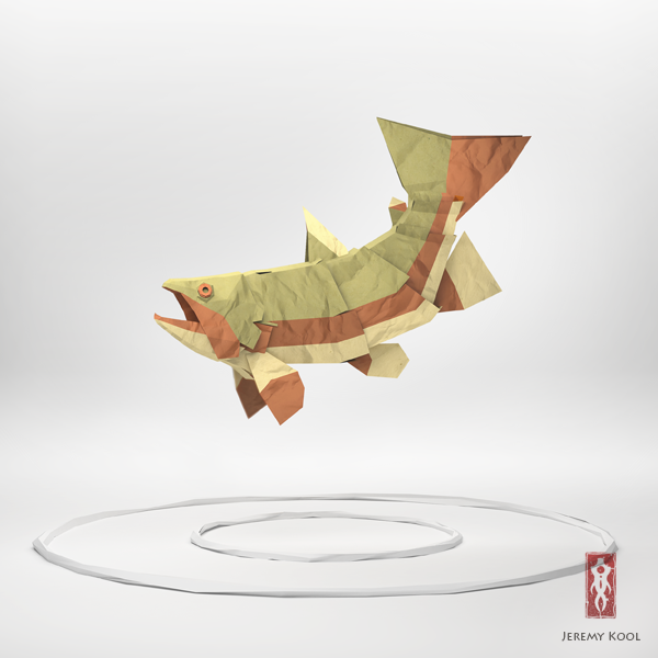 3d origami illustrations of wild animals � motley news