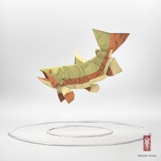 3D Origami Paper fish