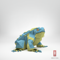 3D Origami Paper frog