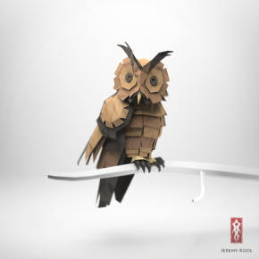 3D Origami Paper owl