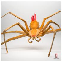 3D Origami Paper spider