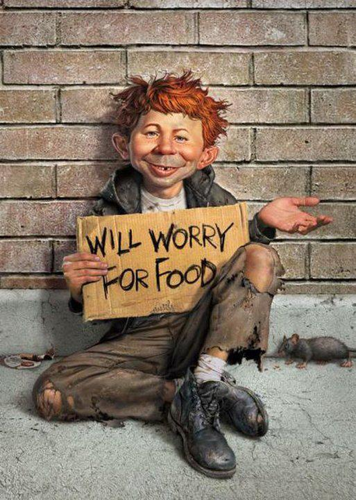 Mad magazine will worry for food