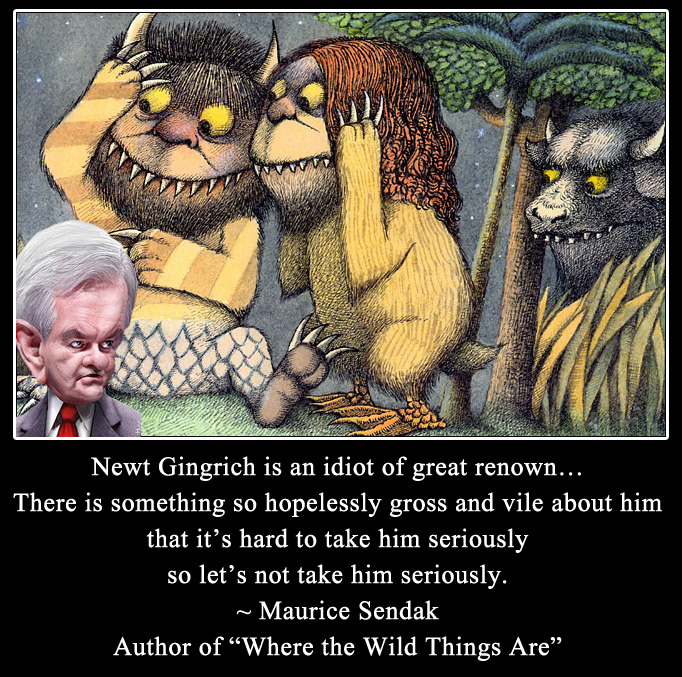 Maurice Sendak quote about Newt Gingrich