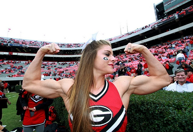 anna watson Univeristy of Georgia Cheerleader muscles
