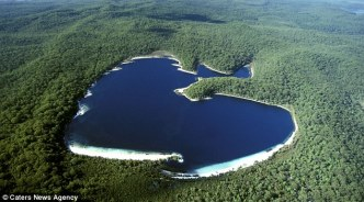 heart shaped lake