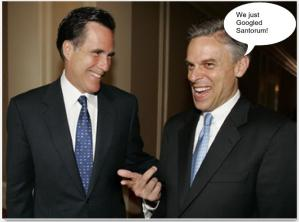 Hump Day funny photo with caption Mitt just googled Santorum