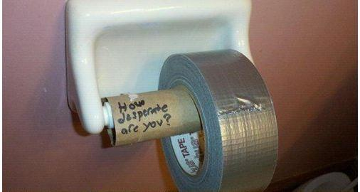 Hump day funny picture duct tape toilet paper