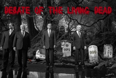 Hump Day humor Republican Candidates Debate of the Living Dead