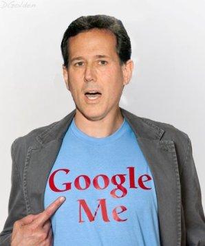Hump Day photo Santorum with tshirt saying Google Me