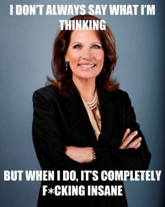 Hump Day photo with funny caption_michele-bachmann-insane