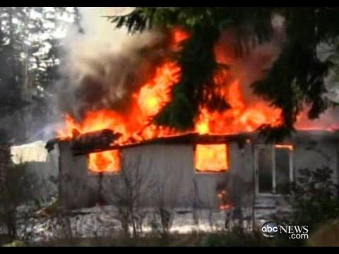 josh powells burning home