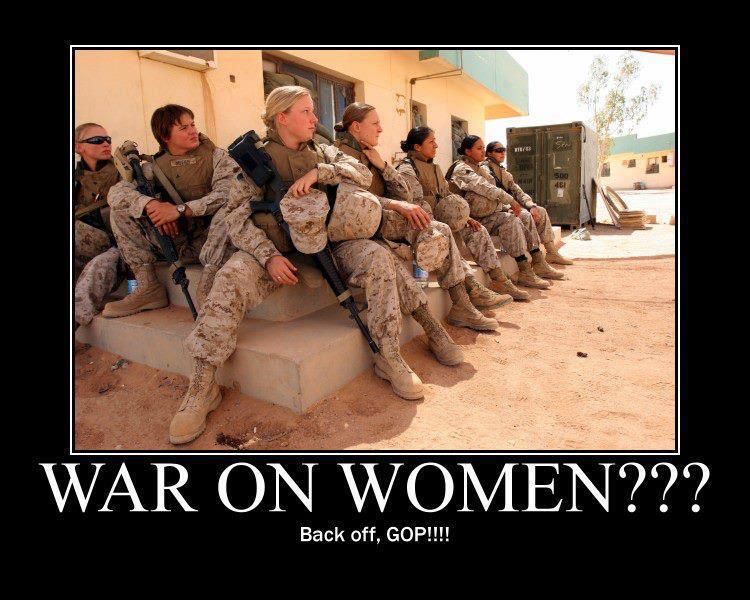 Photo with caption women soldiers war on women
