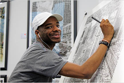 Stephen_Wiltshire_drawing_Sydney