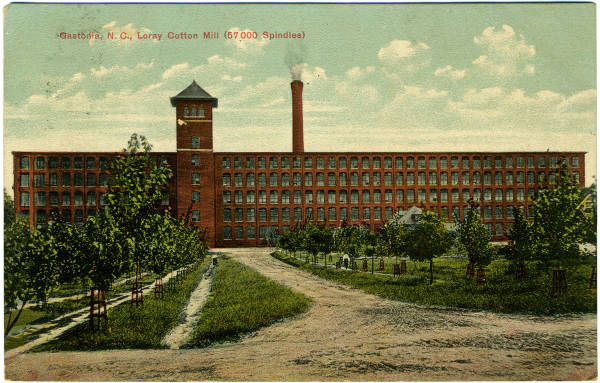 Textile Mill in NC historical postcard