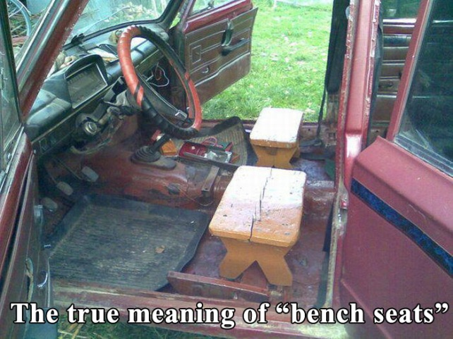 Tgif The True Meaning Bench Seats