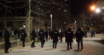 UMass riot photo 01