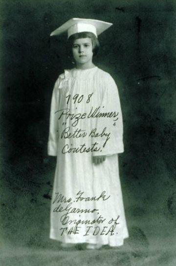 1908 Prize Winner, Better Baby Contests Mrs Frank deGarmo, Originator of THE IDEA Louisiana State Fair, Shreveport