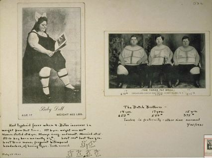 Baby Doll and The Three Fat Brothers, circus acts