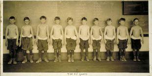 Baltimore anthropometric study, boys 9-10 years, body build