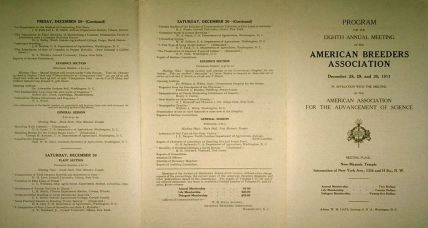 Eugenics American Breeders Association program for 8th meeting