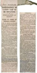 Intelligence of Nation Said to be Declining Sterilization No Remedy, Daily Telegraph and Morning Post 1939 01 13