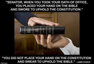 Jamie Raskin swear to uphold the constitution