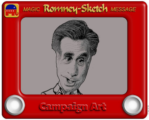 Mitt Romney and Etch-A-Sketch Commercial, Tweets and Memes (1/6)