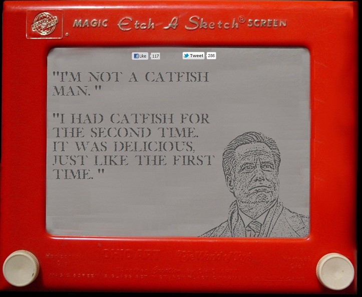 Mitt Romney and Etch-A-Sketch Commercial, Tweets and Memes (4/6)