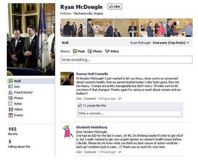 Sen Ryan McDougle Facebook page screenshot comments 01