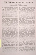 The German Sterilization Law, by Paul Popenoe, Journal of Heredity