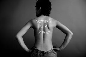 War on Women body message 12 voting is a right