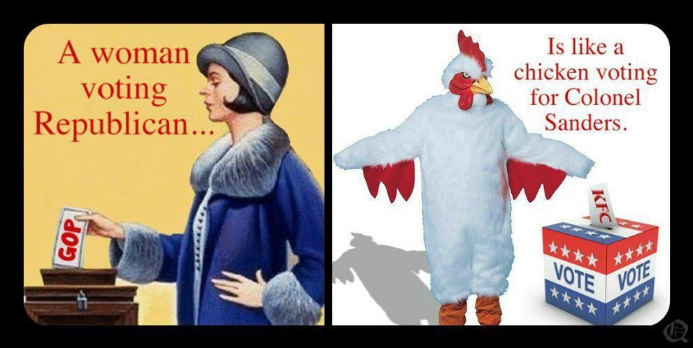republican chicken lol