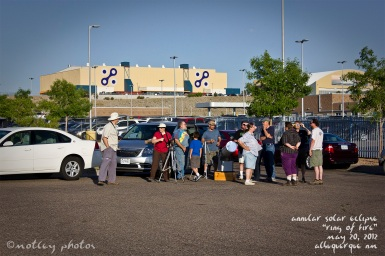 Annular Solar Eclipse_Ring of Fire_05 20 2012_ABQ NM_Other visitors and telescope
