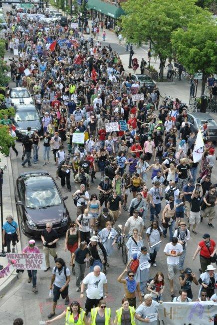 NATO Protest Chicago Protestors 01