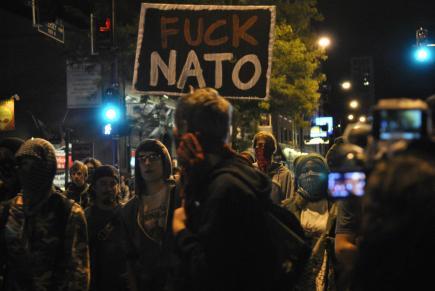 NATO Protest Chicago Protestors 07